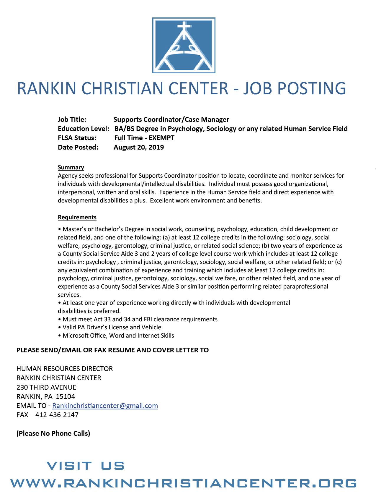 Rankin Christian Center   Official Website of the Rankin ...